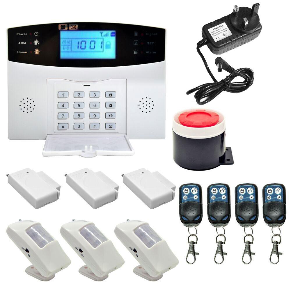 Gsm Wireless Wired Voice Home Burglar Alarm Security