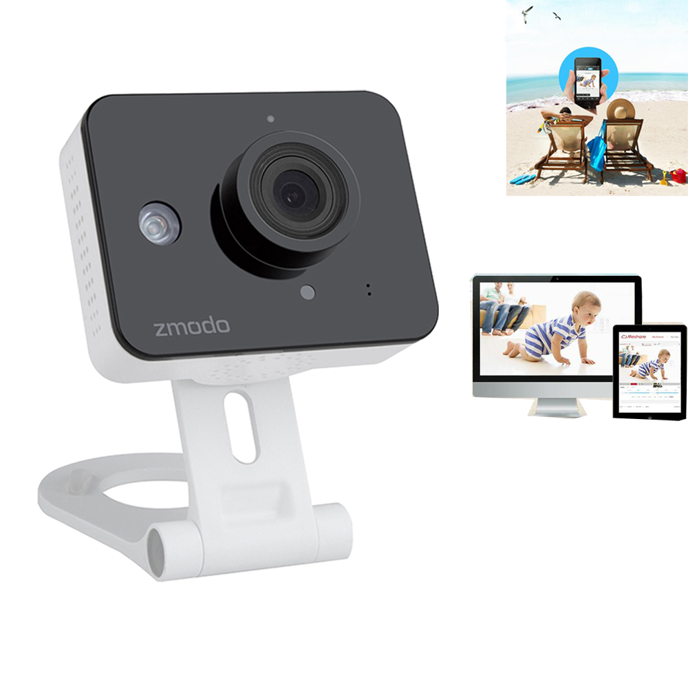zmodo wireless 720p hd wifi network ip camera home baby monitor two way audio. Black Bedroom Furniture Sets. Home Design Ideas
